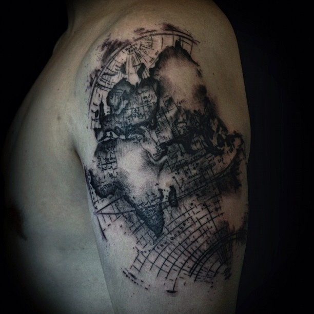 Map tattoos tattoo ideas and design map tattoos photo 21 gumiabroncs Images