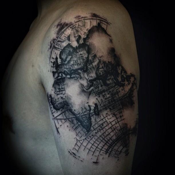 map tattoos photo - 21