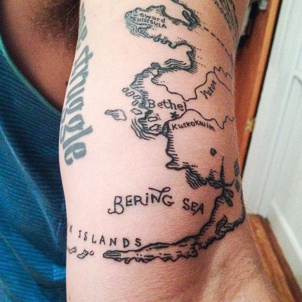 map tattoos photo - 24