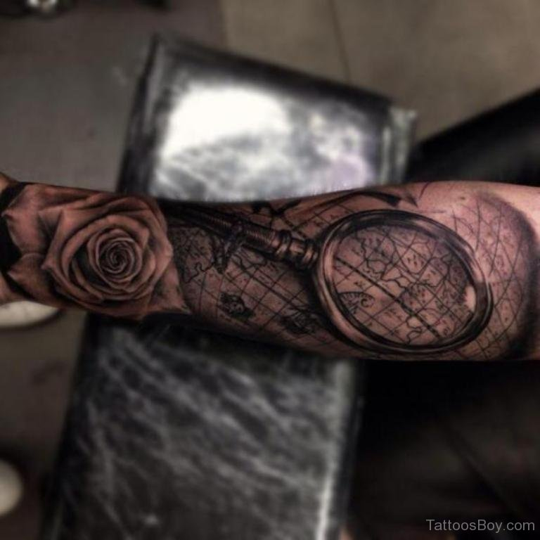 map tattoos photo - 30