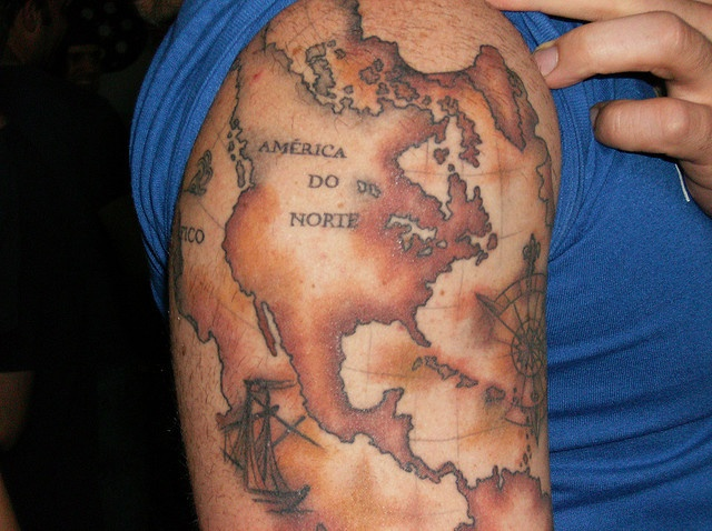 map tattoos photo - 31