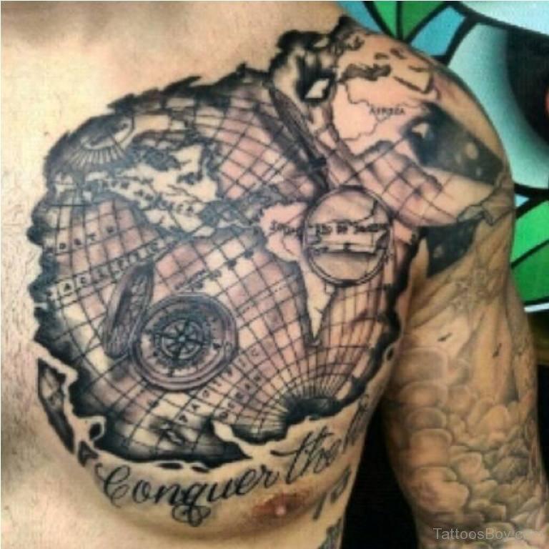 map tattoos photo - 32