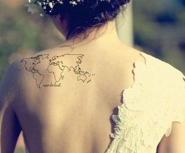 map tattoos photo - 38