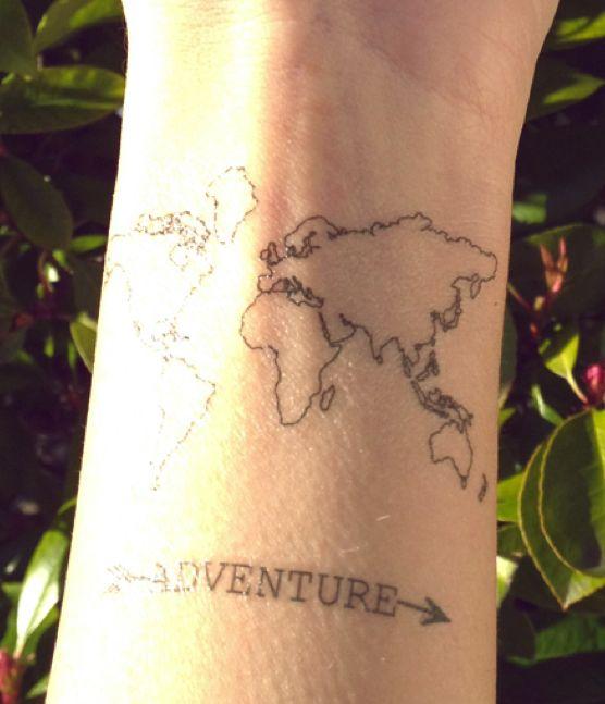 map tattoos photo - 8