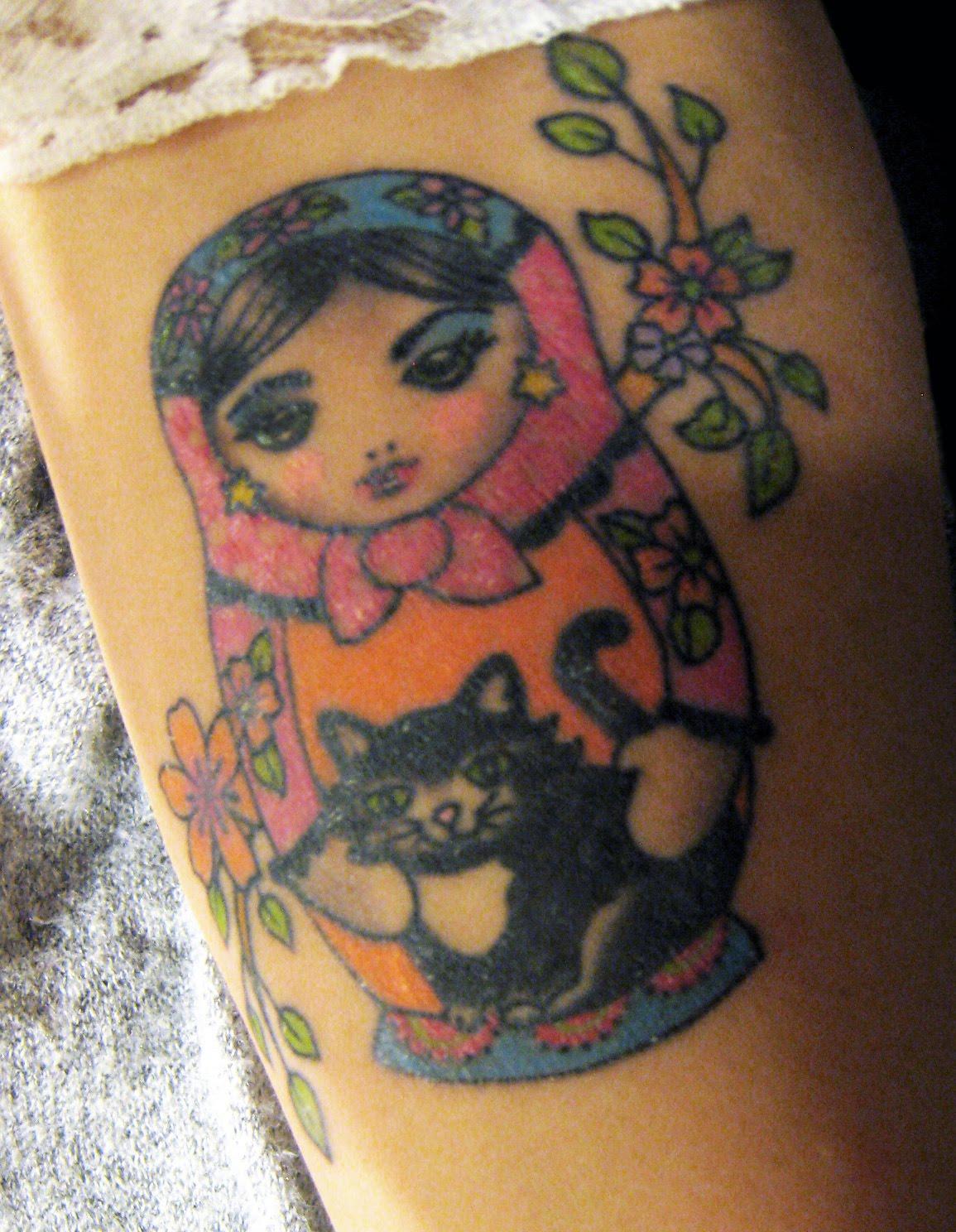 matryoshka tattoos photo - 5