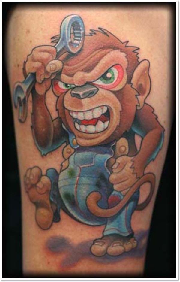 monkey tattoos photo - 8