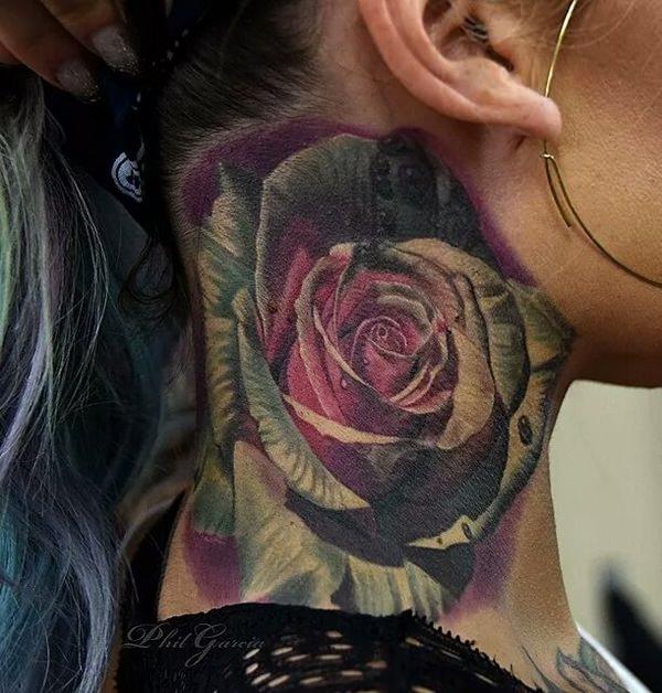 neck tattoos photo - 21