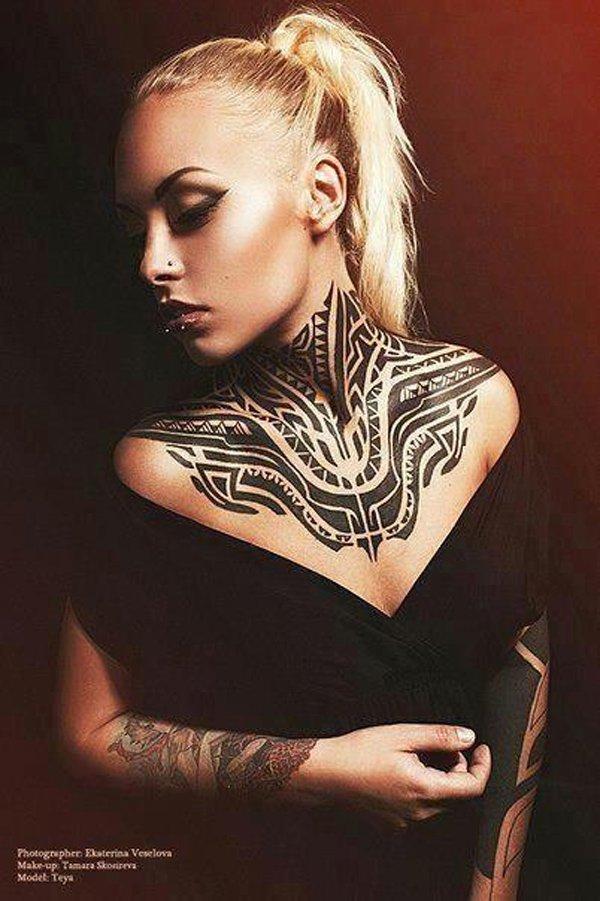 neck tattoos photo - 27