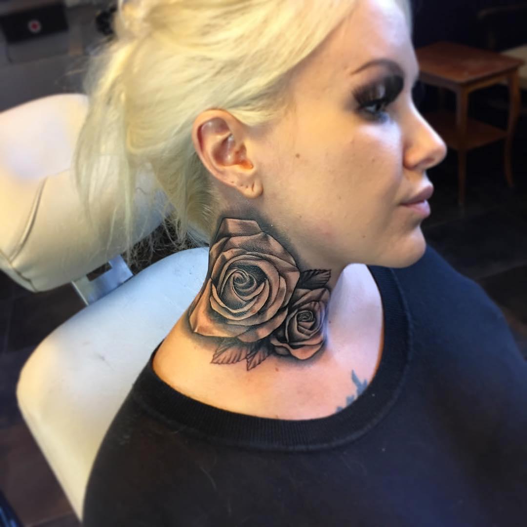 neck tattoos photo - 32