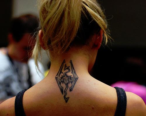 neck tattoos photo - 38