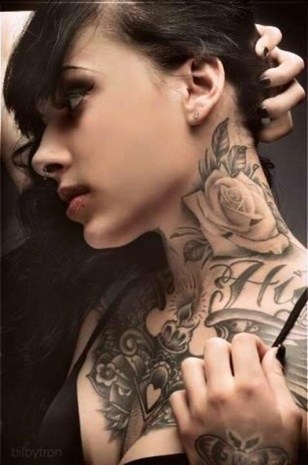 neck tattoos photo - 5