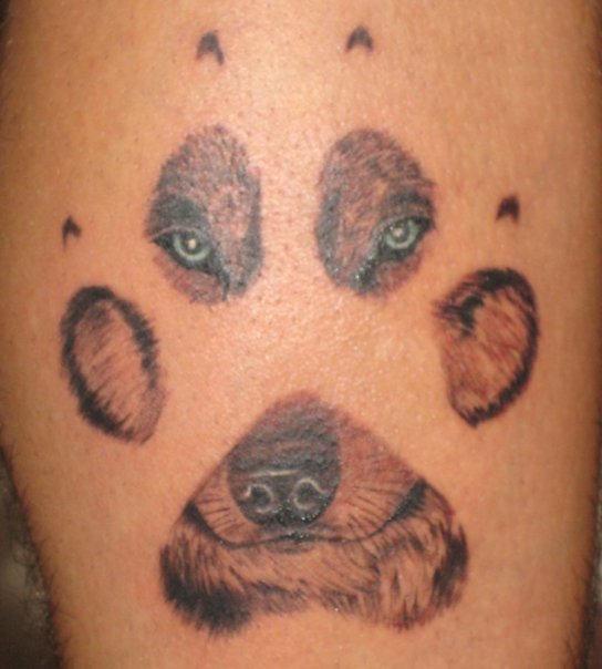 paw tattoos photo - 8