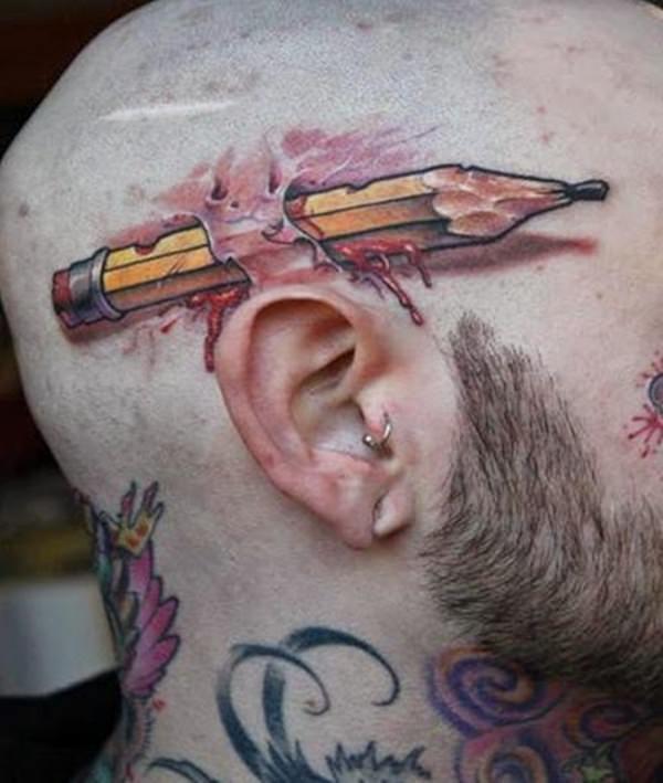 pencil tattoos photo - 17