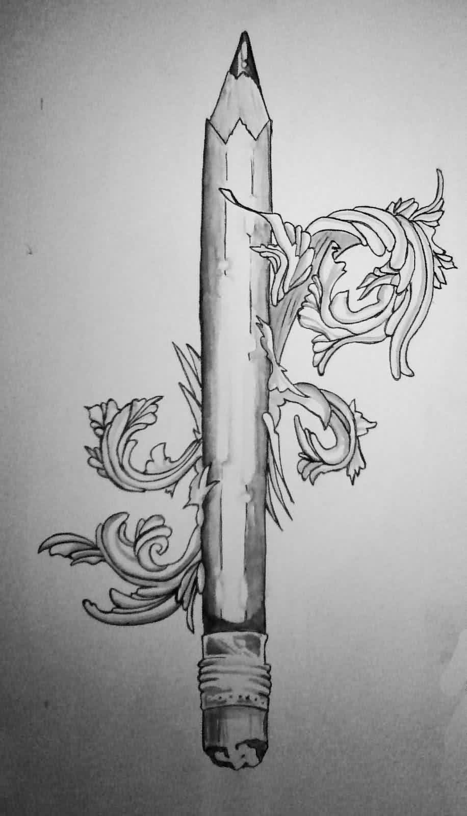 pencil tattoos photo - 27