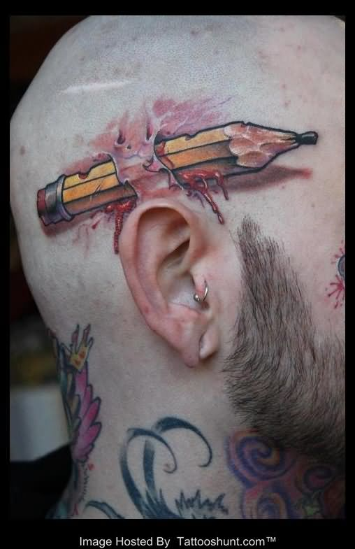 pencil tattoos photo - 39