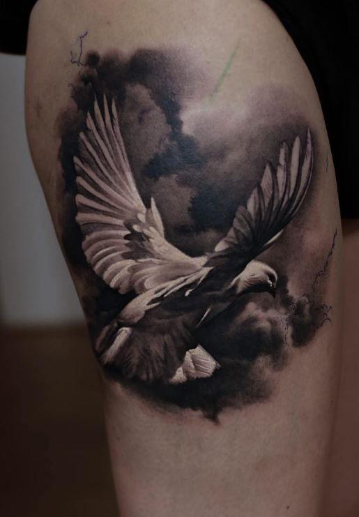 pigeon tattoos photo - 11