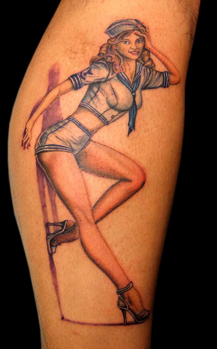 pin up girl tattoos photo - 1