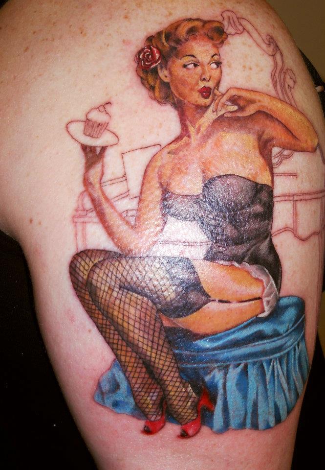 pin up girl tattoos photo - 21