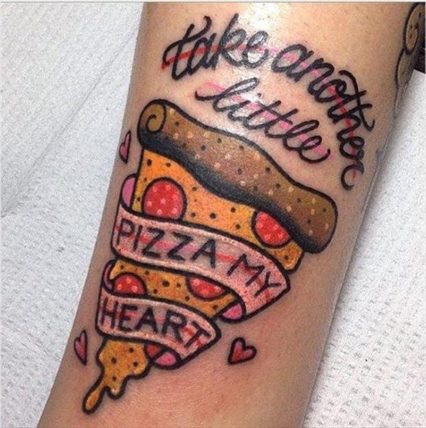 pizza tattoos photo - 2