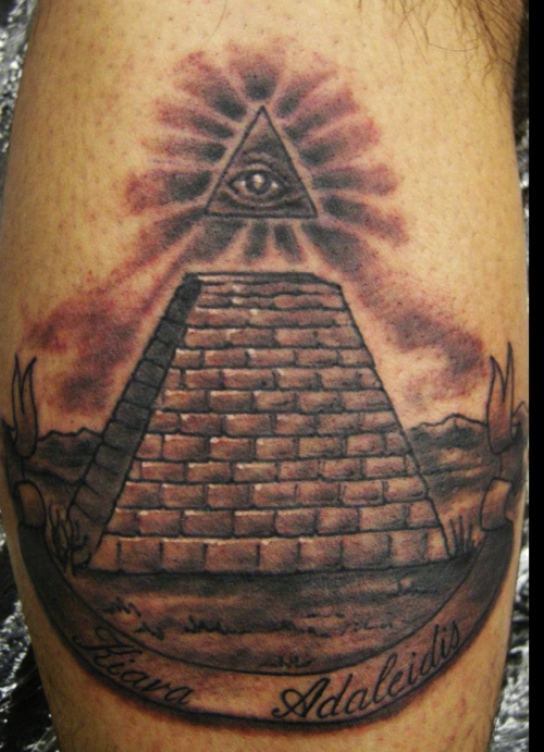 pyramid tattoos photo - 23