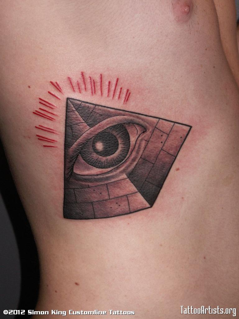 pyramid tattoos photo - 25