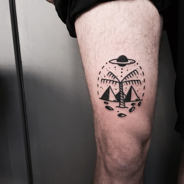 pyramid tattoos photo - 29