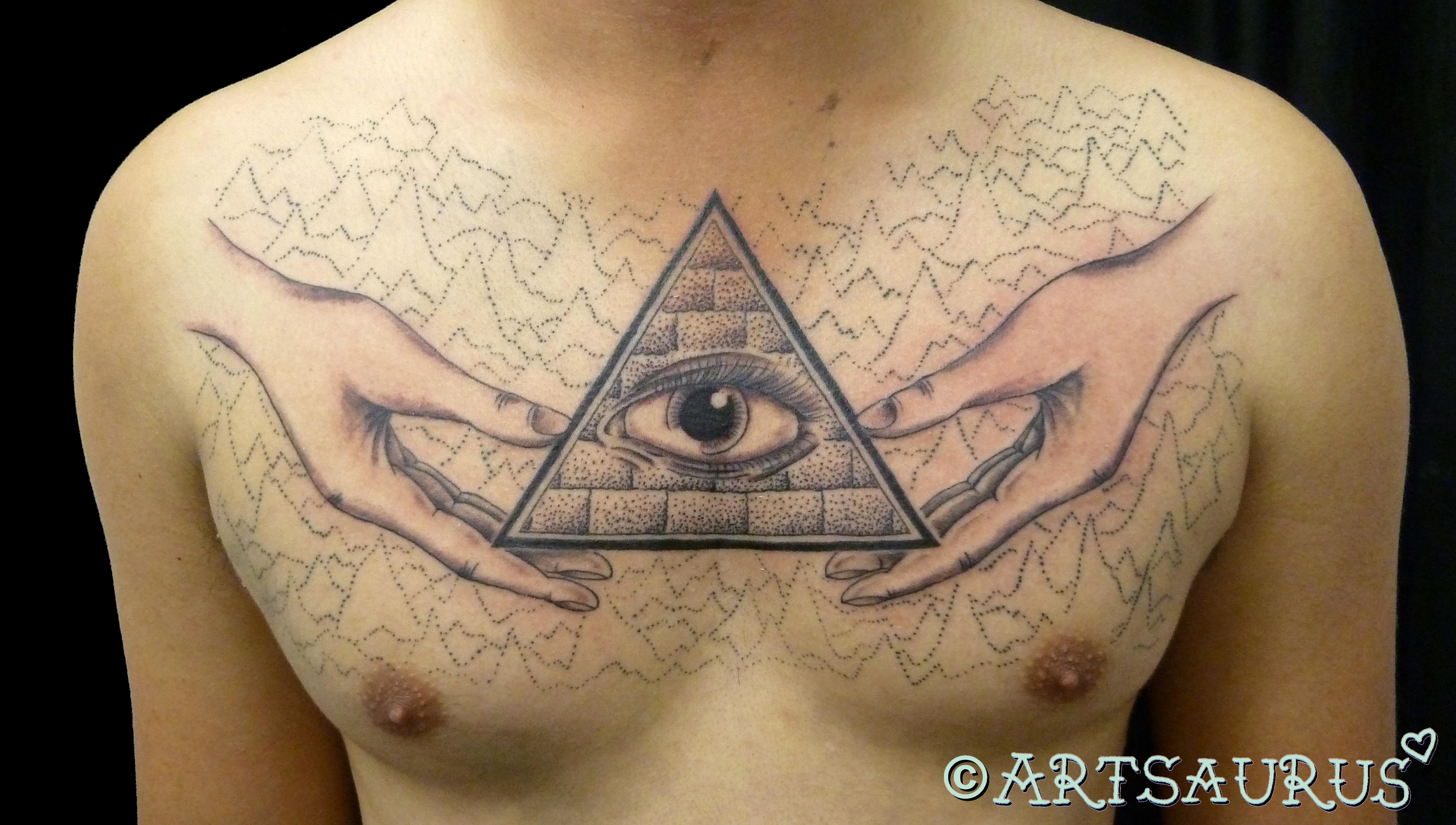 pyramid tattoos photo - 35