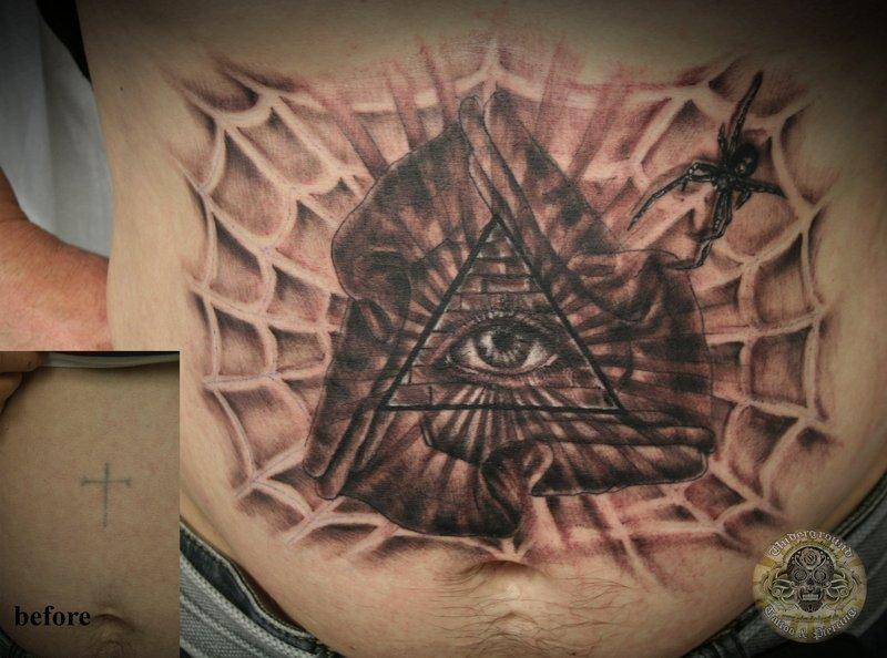 pyramid tattoos photo - 43