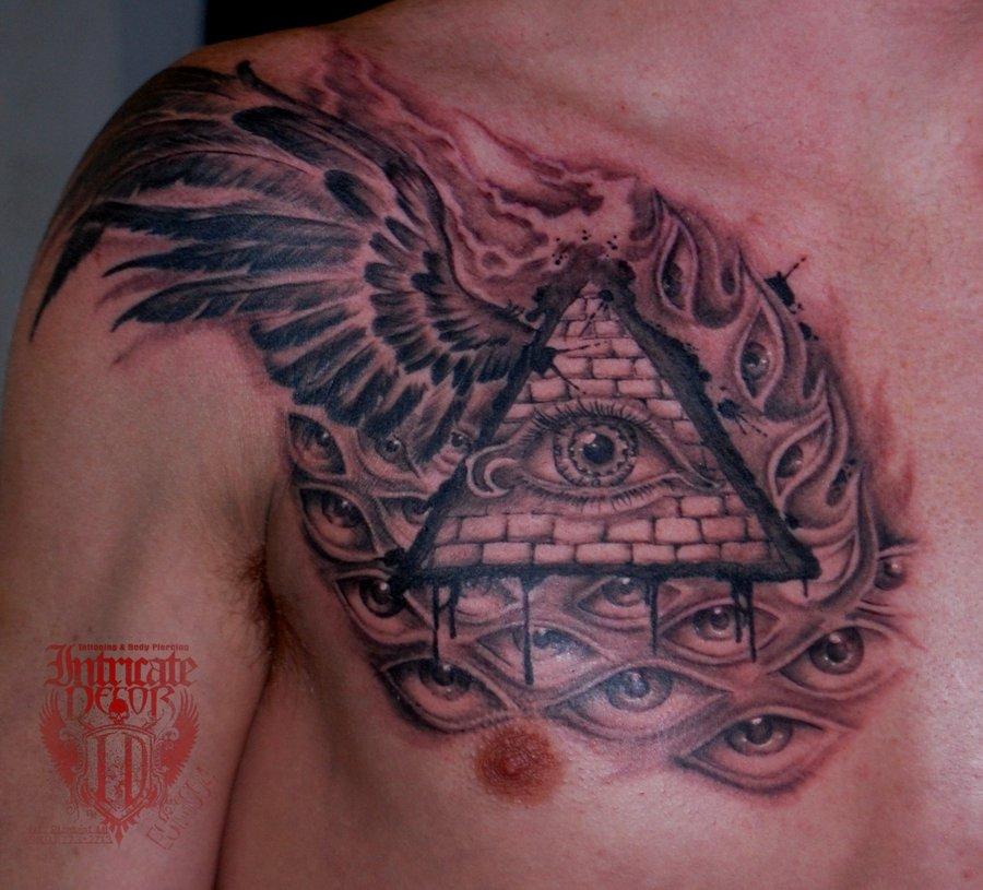 pyramid tattoos photo - 45