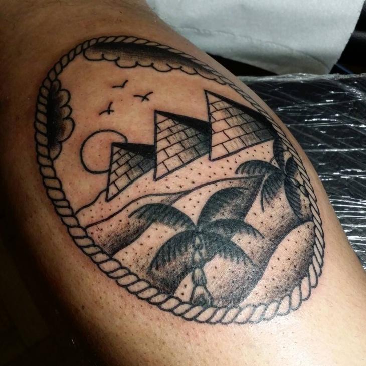 pyramid tattoos photo - 9