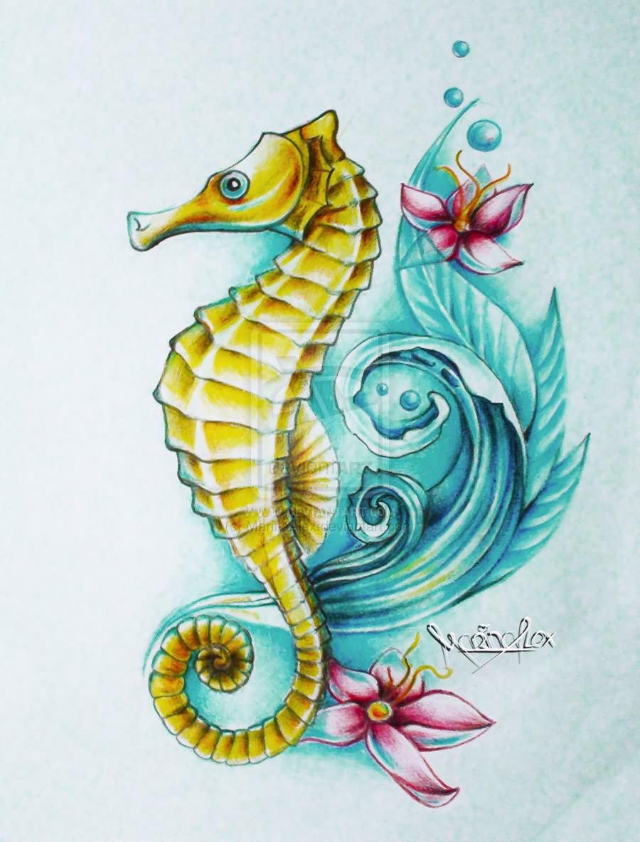 seahorse tattoos photo - 15