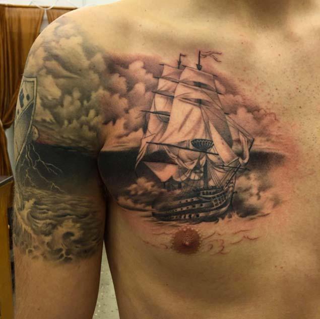 ship tattoos photo - 10