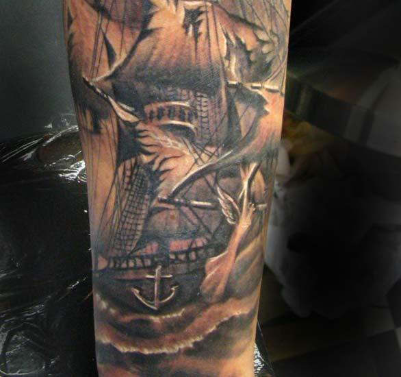 ship tattoos photo - 13