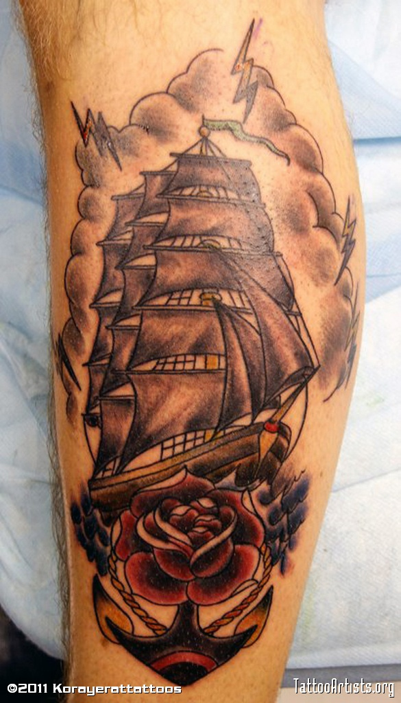 ship tattoos photo - 28