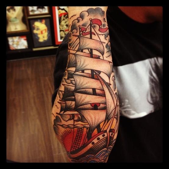 ship tattoos photo - 29