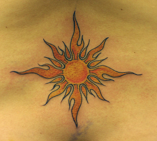 sun tattoos photo - 12