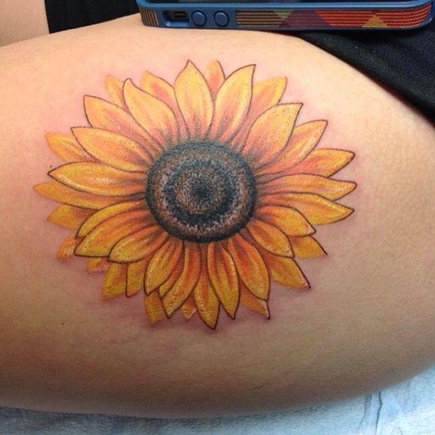 sunflower tattoos photo - 1
