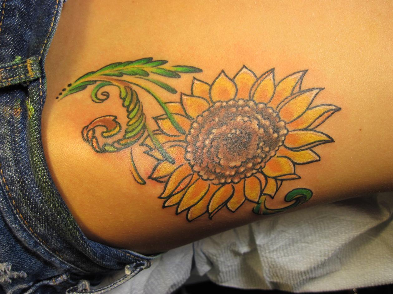 sunflower tattoos photo - 11