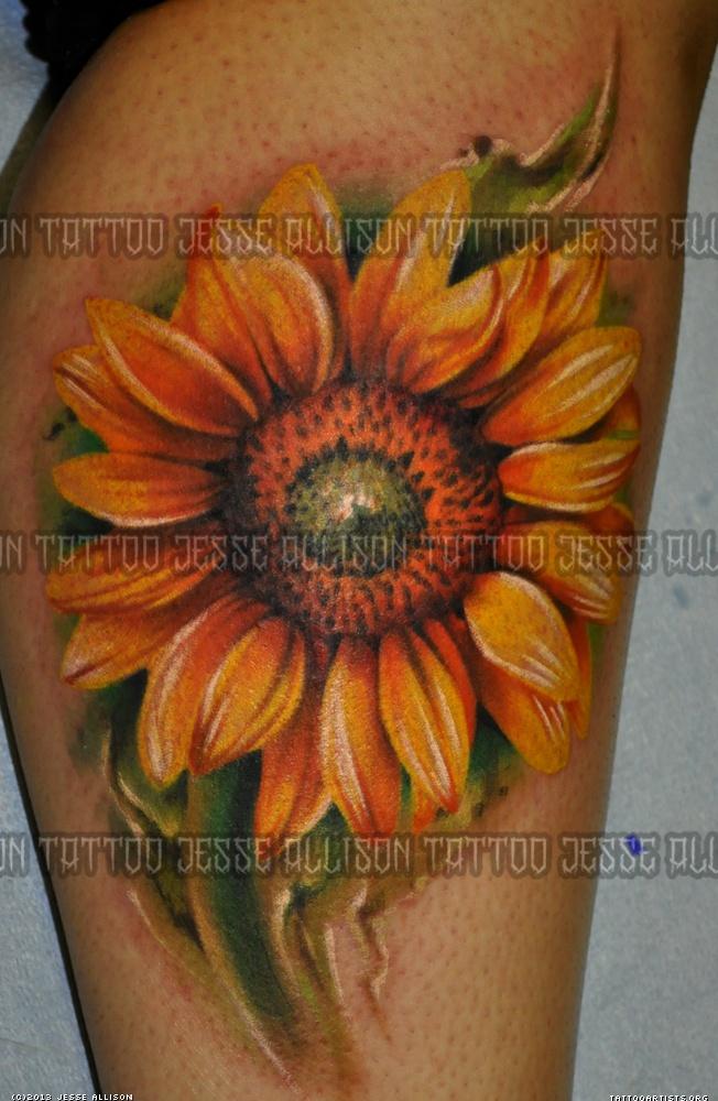 sunflower tattoos photo - 13