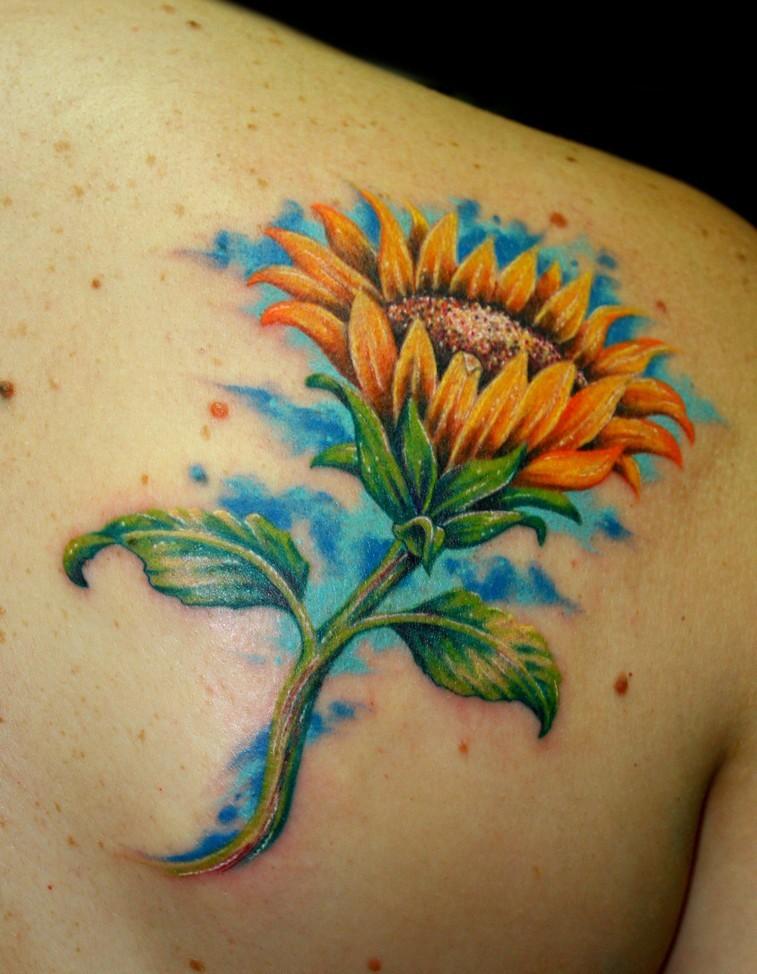 sunflower tattoos photo - 15