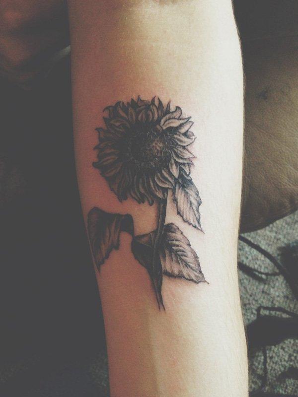 sunflower tattoos photo - 17