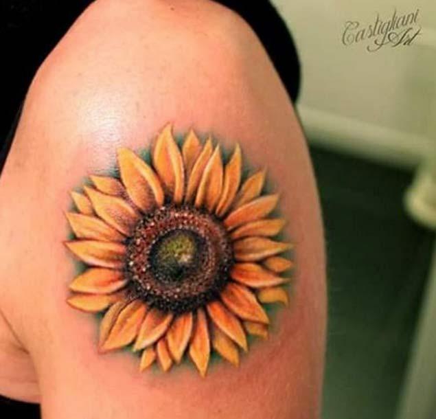 sunflower tattoos photo - 22
