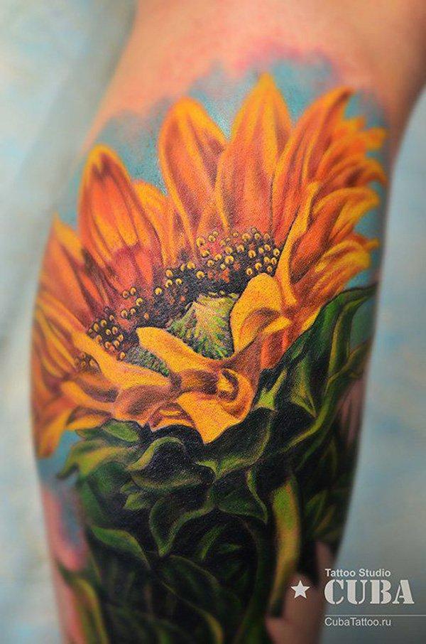 sunflower tattoos photo - 27