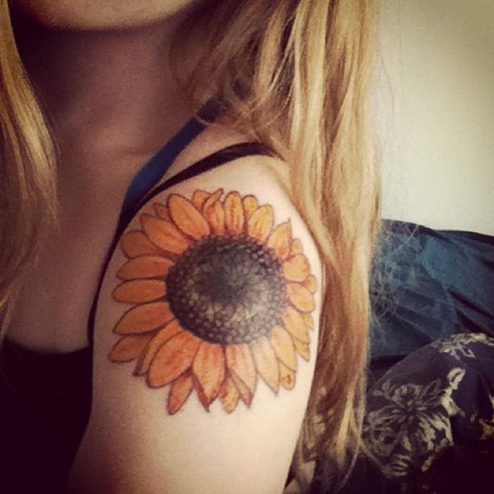 sunflower tattoos photo - 29