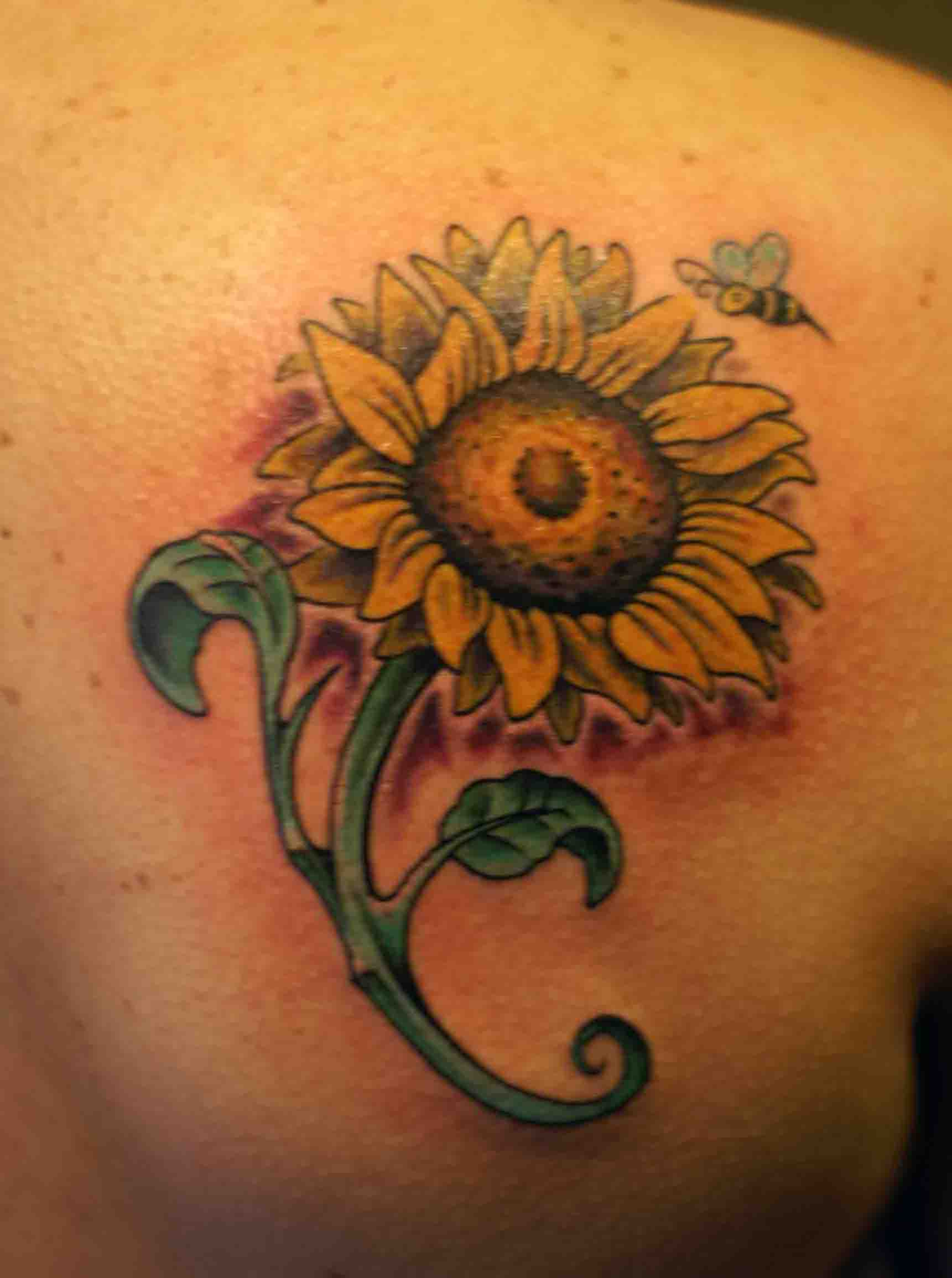 sunflower tattoos photo - 3