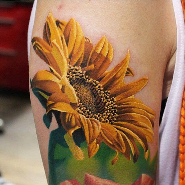 sunflower tattoos photo - 30