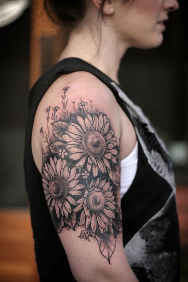sunflower tattoos photo - 32
