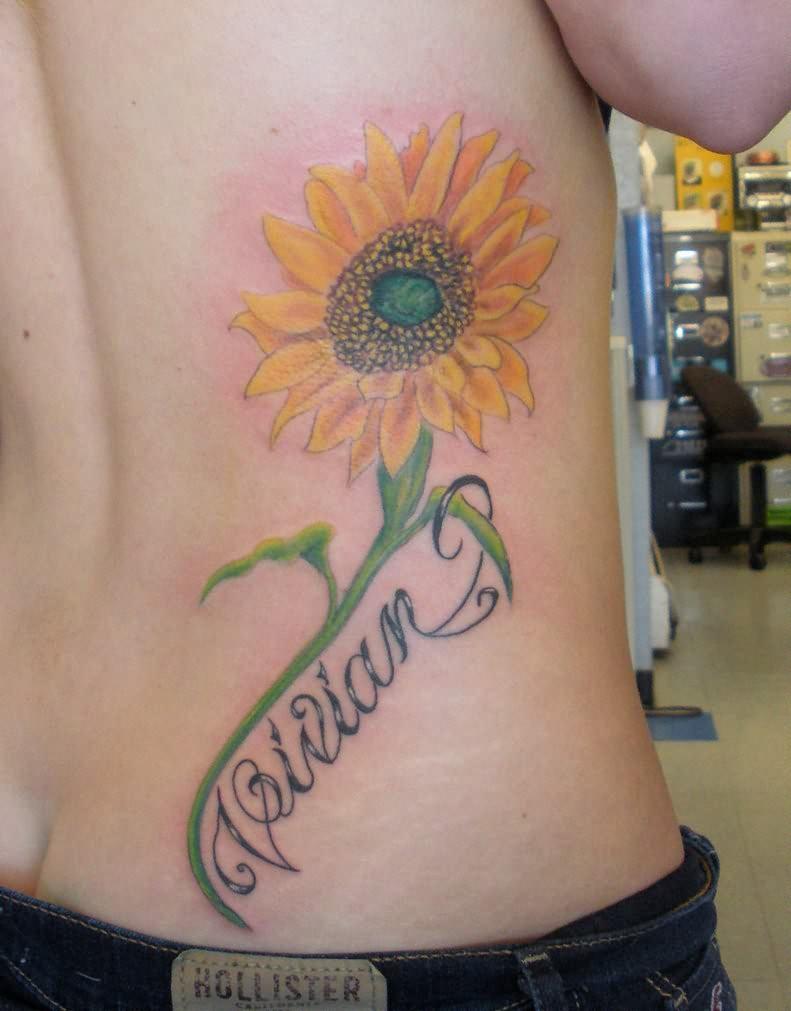 sunflower tattoos photo - 34