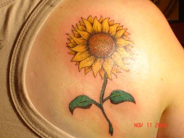 sunflower tattoos photo - 35