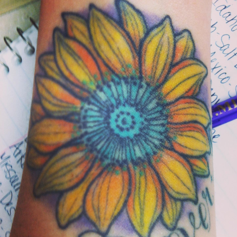 sunflower tattoos photo - 36